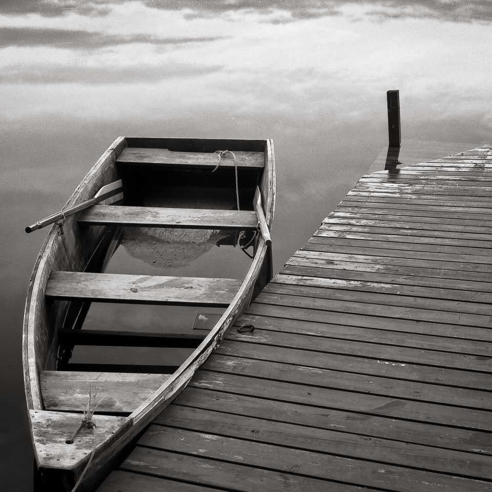Boat and dock, Buckskin Lake